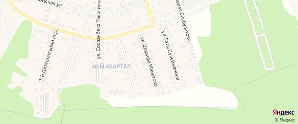 Улица Шарифа Манатова на карте села Нагаево с номерами домов
