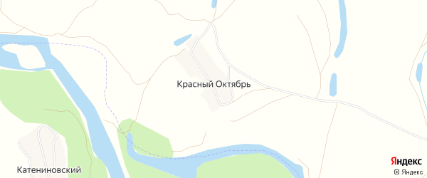 Карта деревни Красного Октября в Башкортостане с улицами и номерами домов
