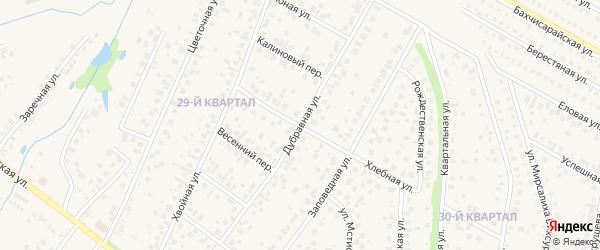 Дубравная улица на карте села Нагаево с номерами домов