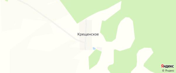Карта деревни Крещенского в Башкортостане с улицами и номерами домов