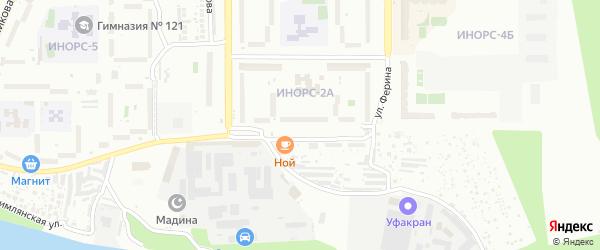 Улица им Фронтовых бригад на карте Уфы с номерами домов