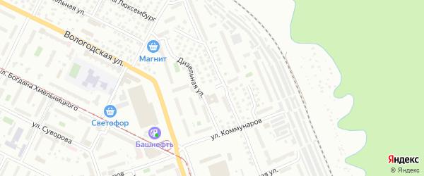 Бурзянская улица на карте Уфы с номерами домов