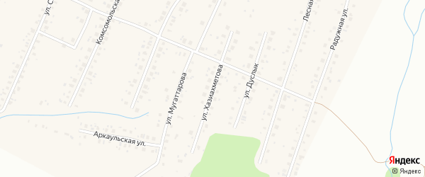 Улица Хазиахметова на карте села Старые Турбаслы с номерами домов