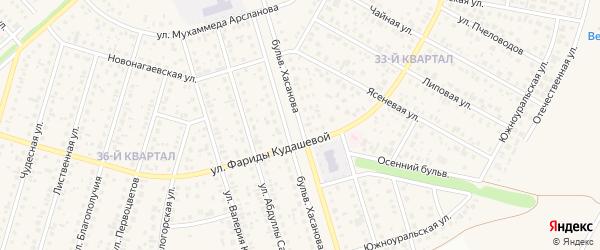 Бульвар Хасанова на карте села Нагаево с номерами домов