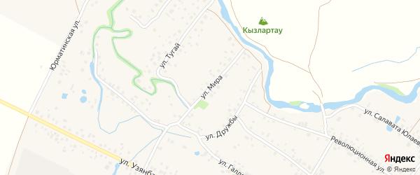 Улица Мира на карте села Ишеево с номерами домов