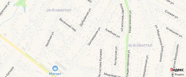 Заповедная улица на карте села Нагаево с номерами домов