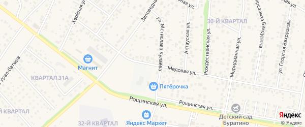 Медовая улица на карте села Нагаево с номерами домов