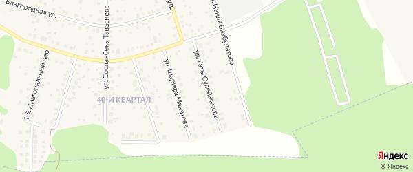 Улица Гаты Сулейманова на карте села Нагаево с номерами домов