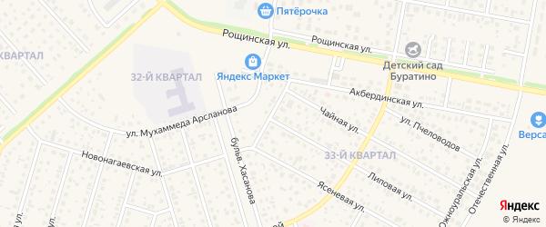 Новонагаевская улица на карте села Нагаево с номерами домов