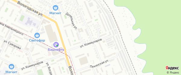 Улица Розы Люксембург на карте Уфы с номерами домов