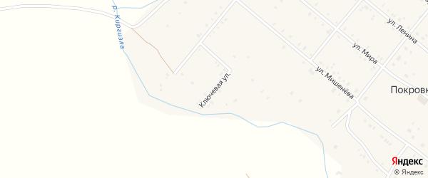 Ключевая улица на карте села Покровки с номерами домов