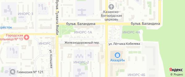 Бобруйская улица на карте Уфы с номерами домов