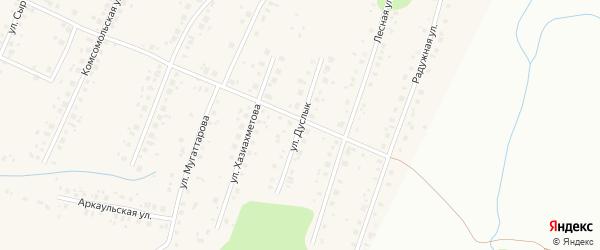 Улица Дуслык на карте села Старые Турбаслы с номерами домов