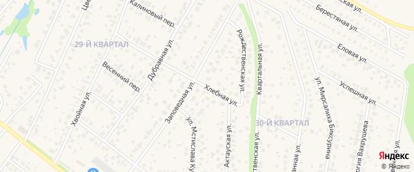 Хлебная улица на карте села Нагаево с номерами домов