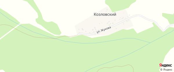 Улица Жукова на карте деревни Козловского с номерами домов