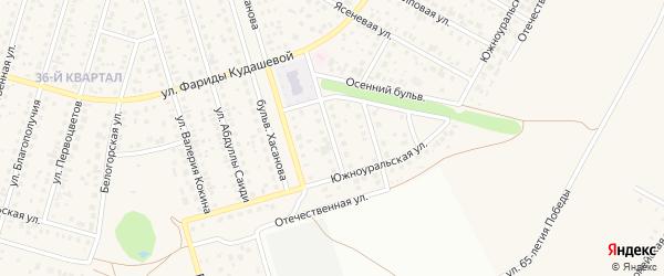 Золотистая улица на карте села Нагаево с номерами домов