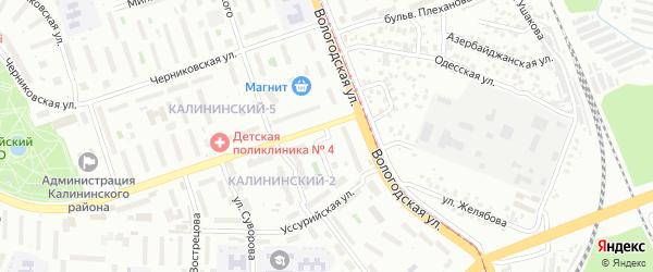 Улица Лермонтова на карте Уфы с номерами домов