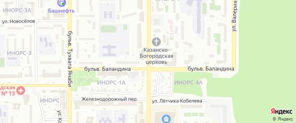 Улица Ферина на карте Уфы с номерами домов