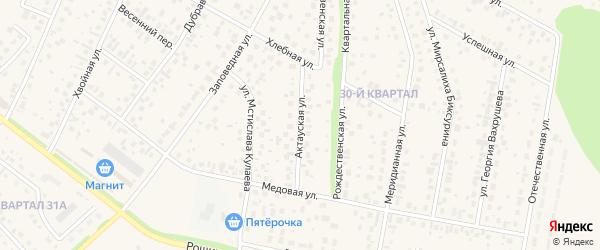 Актауская улица на карте села Нагаево с номерами домов