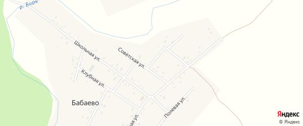 Советская улица на карте села Бабаево с номерами домов