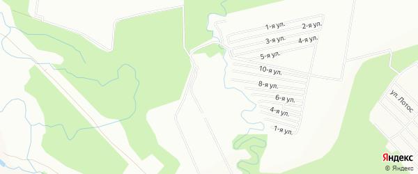 СНТ Рябинушка на карте Уфы с номерами домов