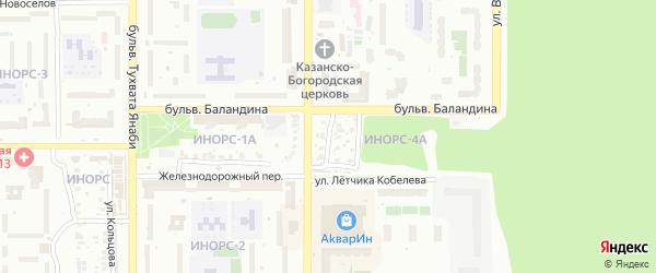 Улица Верещагина на карте Уфы с номерами домов
