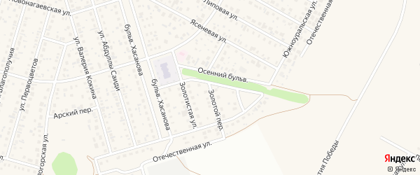 Золотой переулок на карте села Нагаево с номерами домов