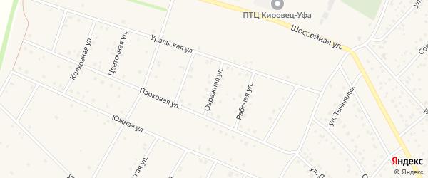 Овражная улица на карте деревни Кабаково с номерами домов