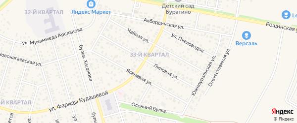 Липовая улица на карте села Нагаево с номерами домов