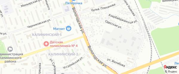 Вологодский переулок на карте Уфы с номерами домов