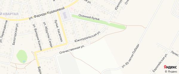 Южноуральская улица на карте села Нагаево с номерами домов