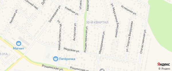 Рождественская улица на карте села Нагаево с номерами домов