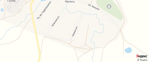Новая улица на карте деревни Карламана с номерами домов