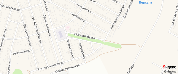 Осенний бульвар на карте села Нагаево с номерами домов