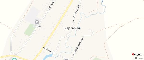 Улица Ак-Куль на карте деревни Карламана с номерами домов