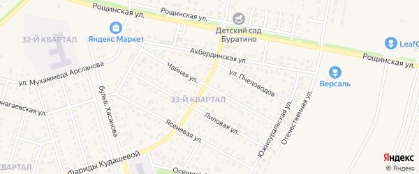 Чайная улица на карте села Нагаево с номерами домов