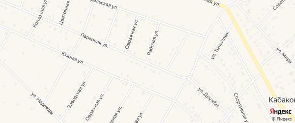 Парковая улица на карте деревни Кабаково с номерами домов