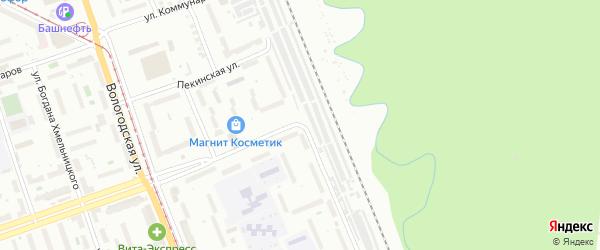 Улица Адмирала Ушакова на карте Уфы с номерами домов