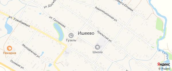 Школьная улица на карте села Ишеево с номерами домов