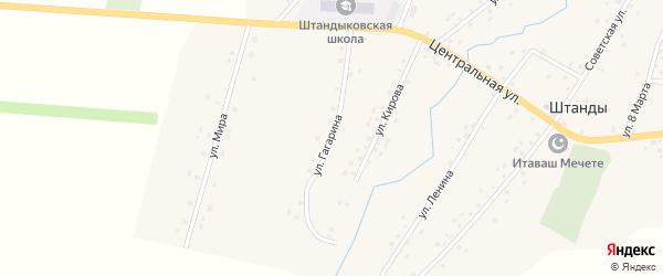 Улица Гагарина на карте деревни Штанд с номерами домов