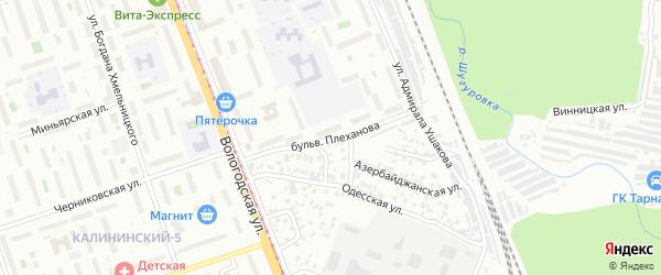 Бульвар Плеханова на карте Уфы с номерами домов