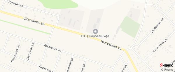 Шоссейная улица на карте Октябрьского с номерами домов