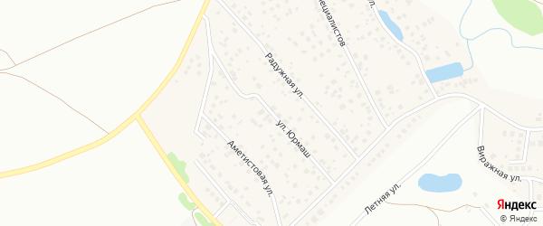 Улица Юрмаш на карте села Федоровки с номерами домов