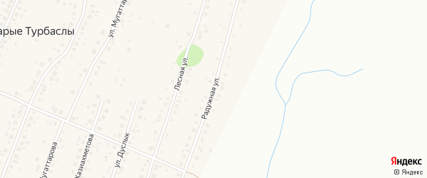 Радужная улица на карте села Старые Турбаслы с номерами домов