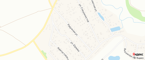 Радужная улица на карте села Федоровки с номерами домов