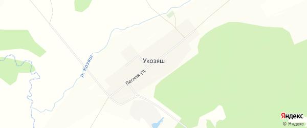Карта деревни Укозяша в Башкортостане с улицами и номерами домов