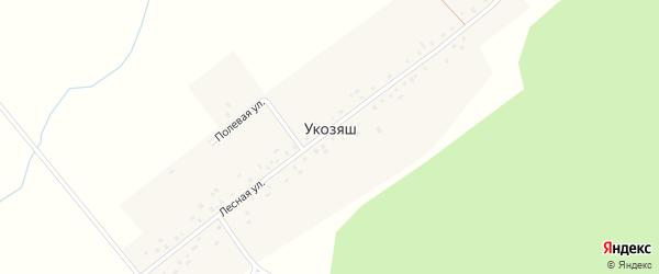 Полевая улица на карте деревни Укозяша с номерами домов