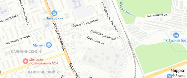 Одесская улица на карте Уфы с номерами домов