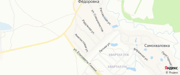 СНТ Зеленый Юрмаш на карте Уфы с номерами домов