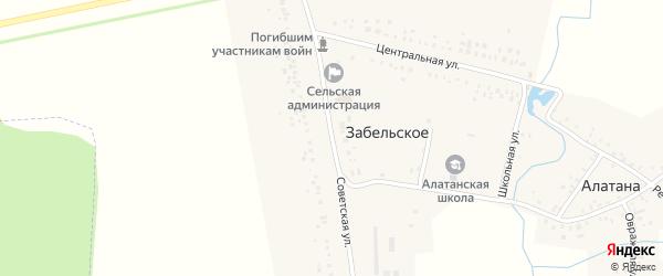 Советская улица на карте Забельского села с номерами домов